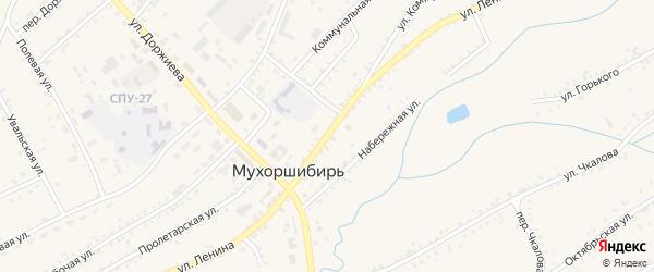 Улица Ленина на карте села Мухоршибири с номерами домов