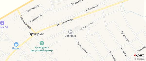 Улица Калинина на карте села Эрхирик с номерами домов