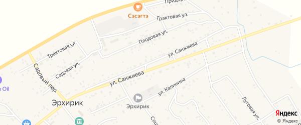 Плодовая улица на карте села Эрхирик с номерами домов