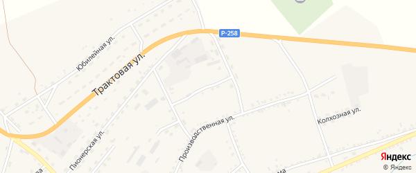 Производственный переулок на карте села Мухоршибири с номерами домов