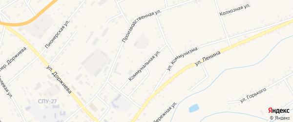 Коммунальная улица на карте села Мухоршибири с номерами домов