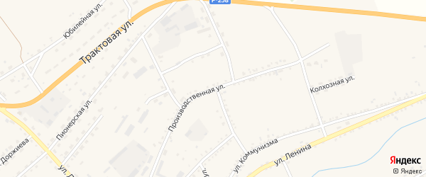 Производственная улица на карте села Мухоршибири с номерами домов