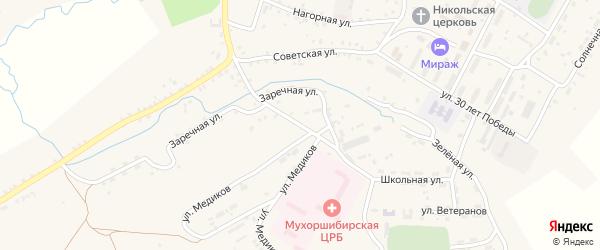 Улица Медиков на карте села Мухоршибири с номерами домов