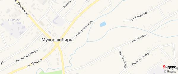 Трактовая улица на карте села Мухоршибири с номерами домов