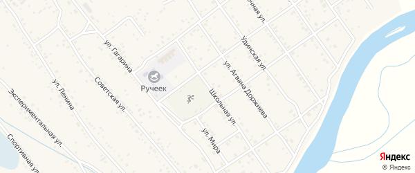 Школьная улица на карте села Эрхирик с номерами домов