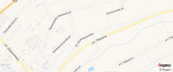 Улица Коммунизма на карте села Мухоршибири с номерами домов