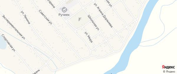 Улица Мира на карте села Эрхирик с номерами домов