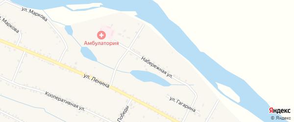 Набережная улица на карте села Малого Куналея с номерами домов