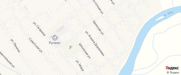 Улица Цырендаши Доржиева на карте Улан-Удэ с номерами домов