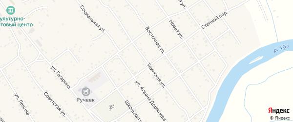 Удинская улица на карте села Эрхирик с номерами домов