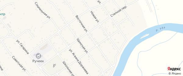 Восточная улица на карте села Эрхирик с номерами домов