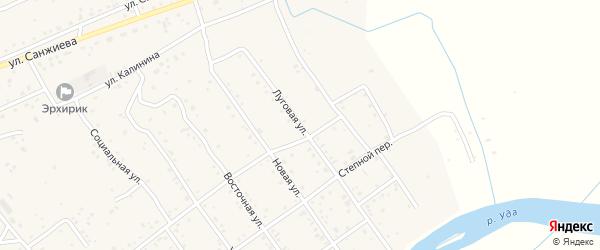 Луговая улица на карте села Эрхирик с номерами домов