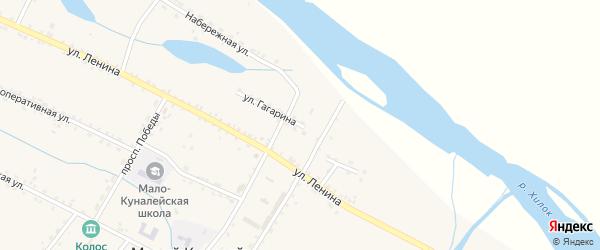 Улица Гагарина на карте села Малого Куналея с номерами домов