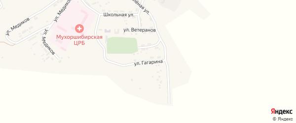 Улица Гагарина на карте села Мухоршибири с номерами домов