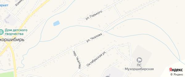 Улица Чкалова на карте села Мухоршибири с номерами домов