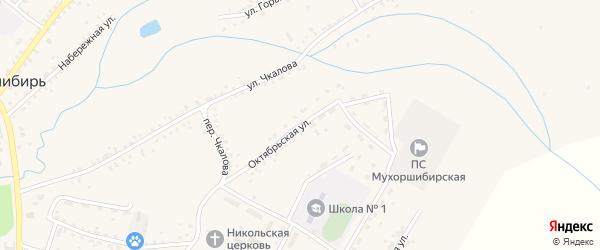 Октябрьская улица на карте села Мухоршибири с номерами домов