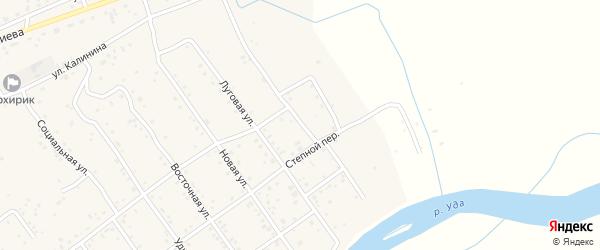 Степная улица на карте села Эрхирик с номерами домов