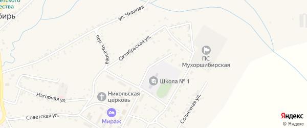Пришкольная улица на карте села Мухоршибири с номерами домов