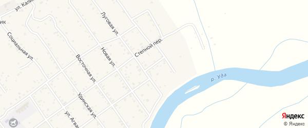 Луговой переулок на карте Улан-Удэ с номерами домов