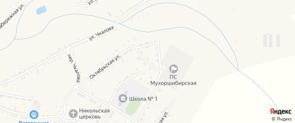 Молодежная улица на карте села Мухоршибири с номерами домов