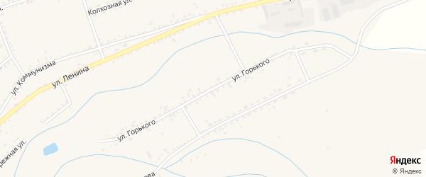 Улица Горького на карте села Мухоршибири с номерами домов