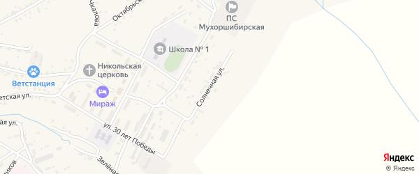 Солнечная улица на карте села Мухоршибири с номерами домов