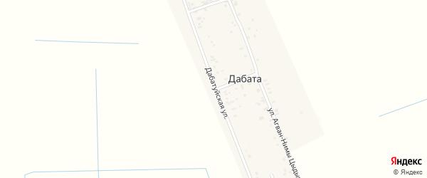 Дабатуйская улица на карте улуса Дабата с номерами домов