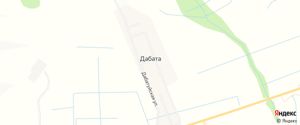 Карта улуса Дабата в Бурятии с улицами и номерами домов
