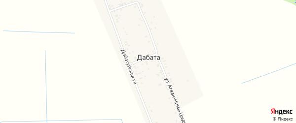 Улица Агван-Нимы Цыдыпдоржиева на карте улуса Дабата с номерами домов