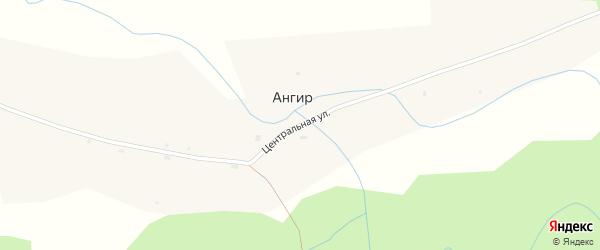 Центральная улица на карте села Ангыра с номерами домов