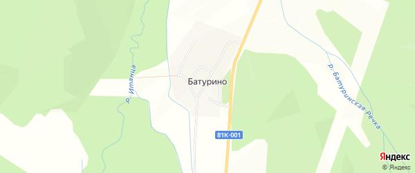 Карта села Батурино в Бурятии с улицами и номерами домов