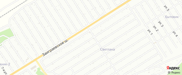 28-я улица на карте СНТ Росинки с номерами домов
