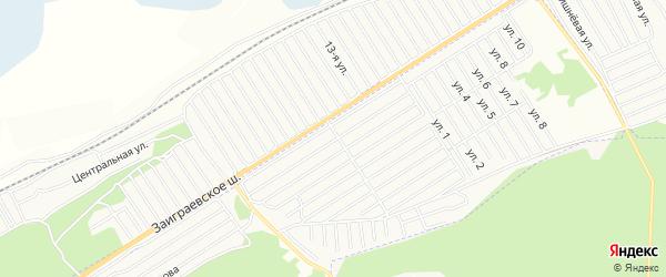Карта СНТ Росинки в Бурятии с улицами и номерами домов