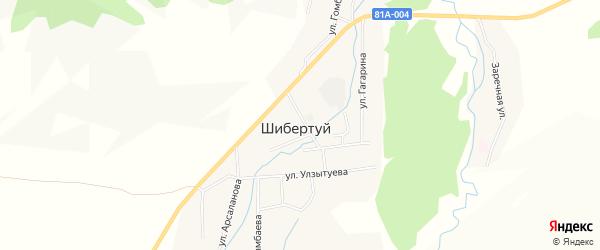 Карта улуса Шибертуй в Бурятии с улицами и номерами домов