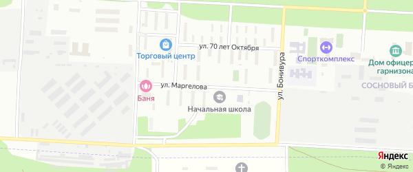 Улица Маргелова на карте Улан-Удэ с номерами домов