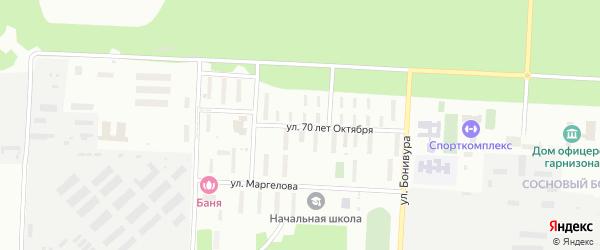 Улица 70 лет Октября на карте Улан-Удэ с номерами домов