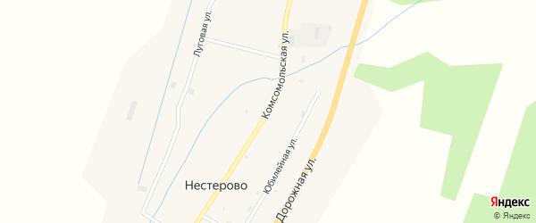 Комсомольская улица на карте села Нестерово с номерами домов