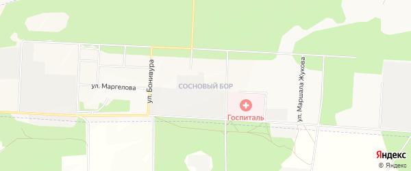 Карта территории СТ Сосновй бор города Улан-Удэ в Бурятии с улицами и номерами домов