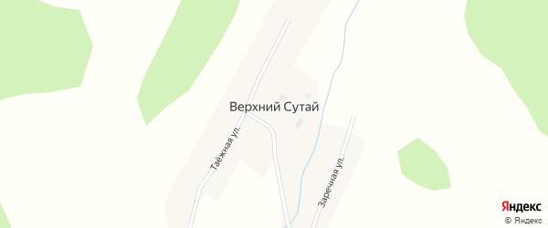 Таежная улица на карте села Верхнего Сутая с номерами домов