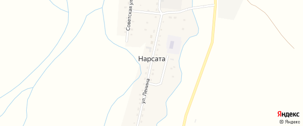Партизанская улица на карте улуса Нарсата с номерами домов