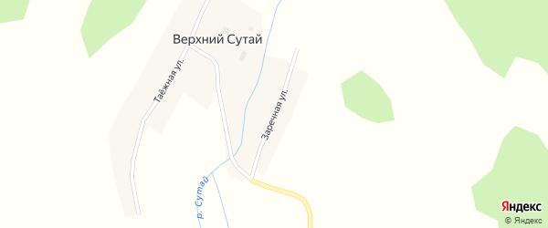 Заречная улица на карте села Верхнего Сутая с номерами домов