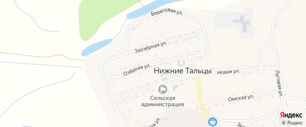 Озерная улица на карте поселка Нижние Тальцы с номерами домов