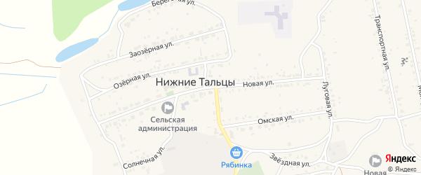 Новая улица на карте поселка Нижние Тальцы с номерами домов