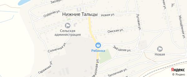 Совхозная улица на карте поселка Нижние Тальцы с номерами домов