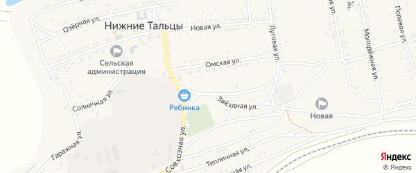 Улица 9-я (СНТ Подснежник) на карте поселка Нижние Тальцы с номерами домов