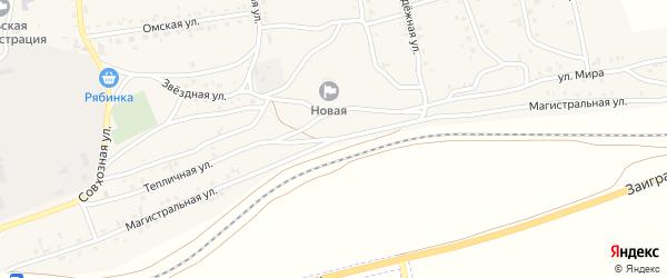 Магистральная улица на карте поселка Нижние Тальцы с номерами домов