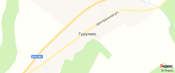 Нагорная улица на карте села Гурулево с номерами домов