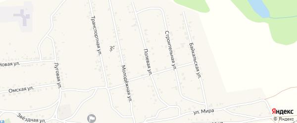 Полевая улица на карте поселка Нижние Тальцы с номерами домов