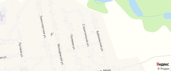 Строительная улица на карте поселка Нижние Тальцы с номерами домов