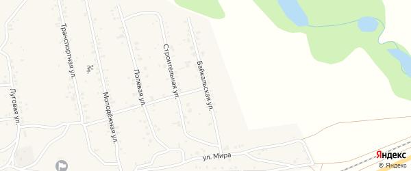 Байкальская улица на карте поселка Нижние Тальцы с номерами домов
